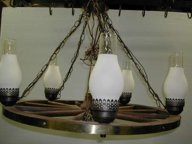 The Prop Room Toronto Western And Riding Items Wagon Wheel Chandelier 1042 Large With Five Light Fixtures